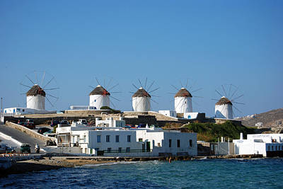 Photograph - Windmills Of Mykonos by Harvey Barrison