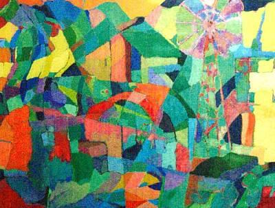 Art Print featuring the painting Windmills Of The Mind by Bernard Goodman