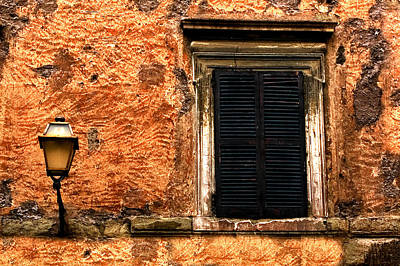 Window And Lamp Rome Italy Art Print by Xavier Cardell