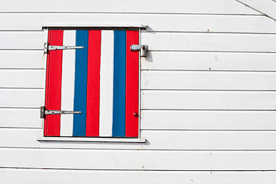 Window Shutter Art Print by Tom Gowanlock