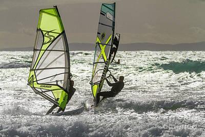 Photograph - Windsurfing by Heiko Koehrer-Wagner