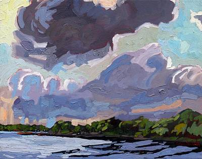 Thunder Painting - Windy Day by Phil Chadwick