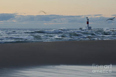 Waukegan Photograph - Windy Waukegan Beach by Birgit Tyrrell