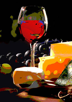 Wine And Cheese Art Print