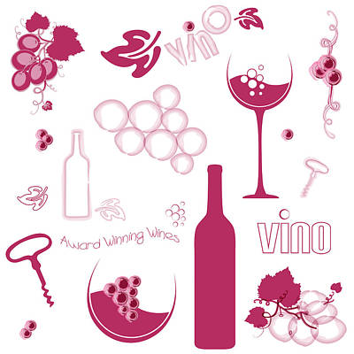 Digital Art - Wine Background Pattern by Serena King