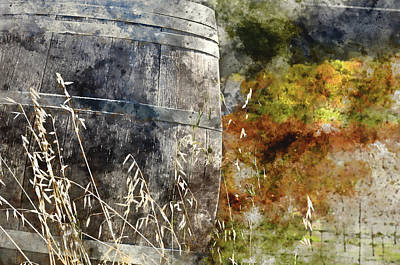 Wine Barrel Digital Art - Wine Barrel In Autumn by Brandon Bourdages