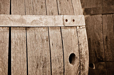 Napa Photograph - Wine Barrel In Cellar by Brandon Bourdages