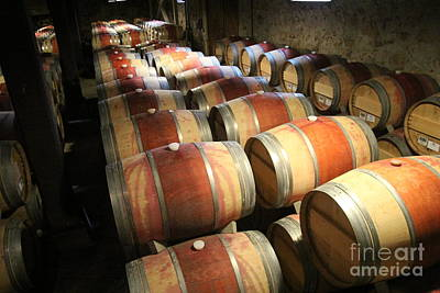 Photograph - Wine Barrels by Anthony Jones