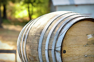 Photograph - Wine Barrels by Brandon Bourdages