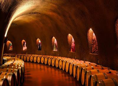 Wine Barrel Photograph - Wine Cave by Mountain Dreams