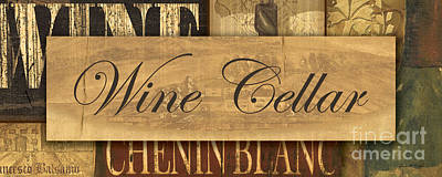 White Wine Painting - Wine Cellar Collage by Grace Pullen