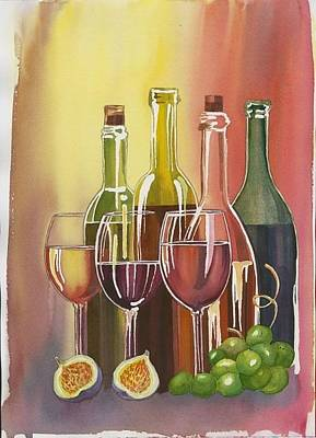 Painting - Wine by Elena Mahoney