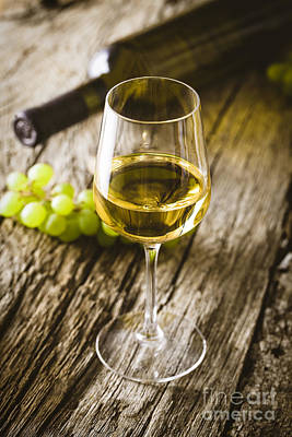 Wine Art Print by Mythja Photography