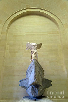 Winged Victory Of Samothrace Sculpture, 2nd Century Bc,  Musee D Art Print