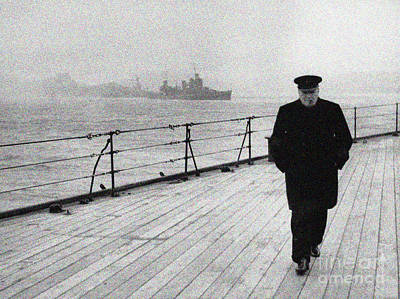 Painting - Winston Churchill At Sea by Celestial Images