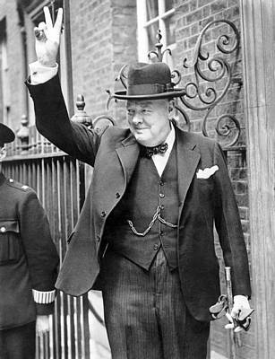 Statesmen Photograph - Winston Churchill by English School