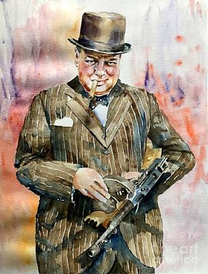 Winston Churchill Portrait Original