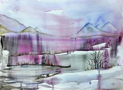 Painting - Winter Afternoon by Katerina Kovatcheva