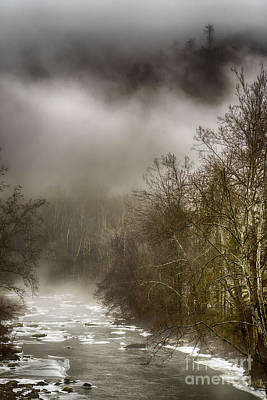 Winter Along Cherry River Art Print