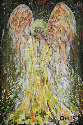 Painting - Winter Angel by Dariusz Orszulik