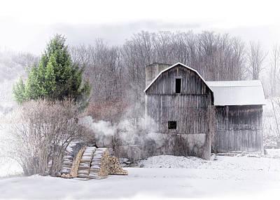 Photograph - Winter Barn by Bernadette Chiaramonte