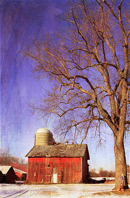 Photograph - Winter Barn by Kathleen Scanlan