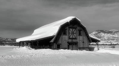 Photograph - Winter Barn Scene by Loc