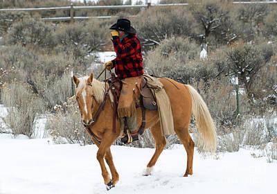 Photograph - Winter Cowboy by Mike Dawson
