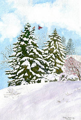 Ithaca Painting - Winter Delight by Melly Terpening