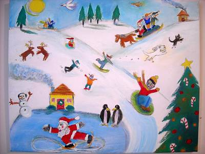 Winter Fun Art Print by Ward Smith