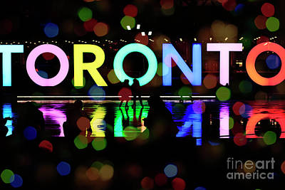 Winter Night Photograph - Winter Ice Skating In Toronto by Charline Xia