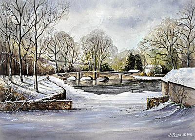 Painting - Winter In Ashford by Andrew Read