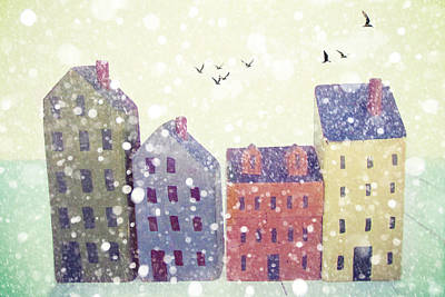 Winter In Nantucket Print by Amy Tyler