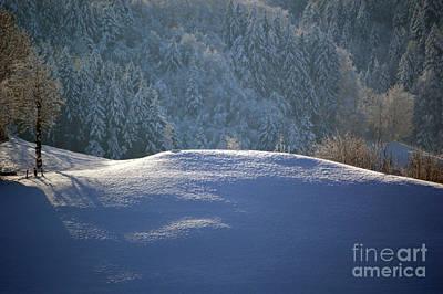 Winter In Switzerland - Snowy Hills Art Print