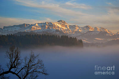 Photograph - Winter In Switzerland - The Santis Mountain by Susanne Van Hulst