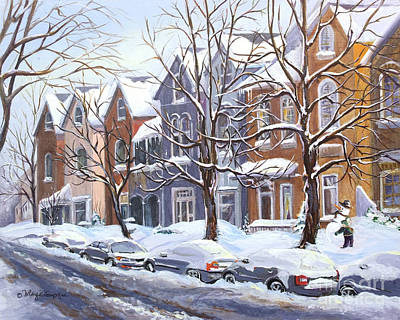 Painting - Winter In The City  by Margit Sampogna