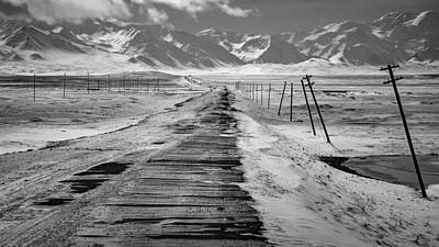 Telephone Poles Photograph - Winter Journey by Mountain Dreams