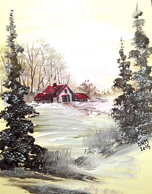 Painting - Winter Landscape by Dorothy Maier