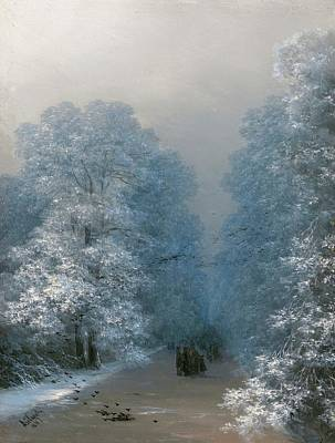Painting - Winter Landscape  by Ivan Aivazovsky