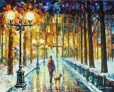 Winter Light Painting -  Winter Light  by Leonid Afremov