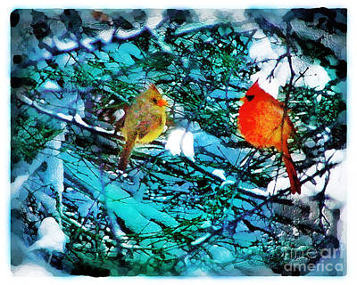 Winter Love Art Print by Gina Signore