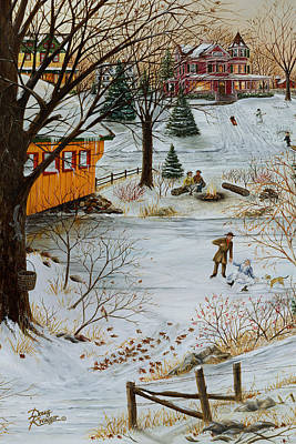 Painting - Winter Memories 3 Of 4 by Doug Kreuger