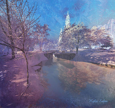 Digital Art - Winter Morning At South Farthing by Kylie Sabra