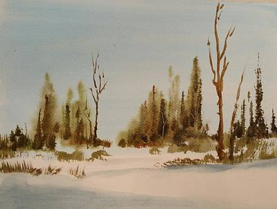 Painting - Winter Morning by Larry Hamilton