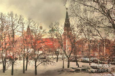 Pyrography - winter Moscow by Yury Bashkin