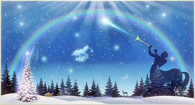 Winter Night Art Print by Harald Dastis