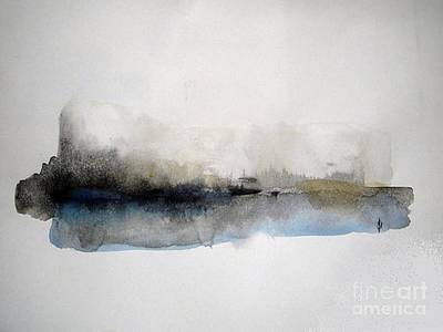Wall Art - Painting - Winter On The Lake by Vesna Antic