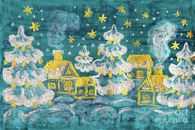Painting - Winter Picture, Painting by Irina Afonskaya