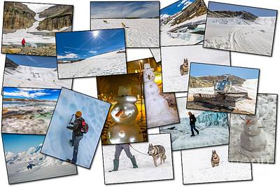 Winter Pictures Collage Art Print