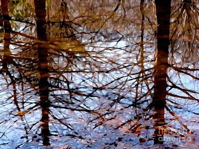 Digital Art - Winter Reflections by Ed Weidman